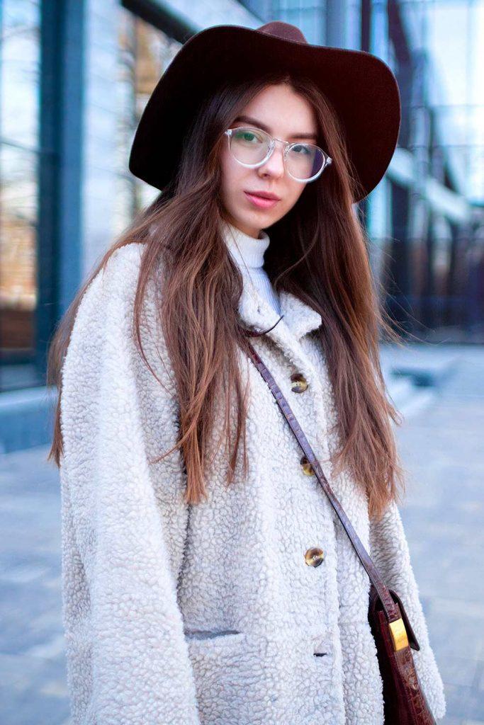 Faux Fur Coat with Hat