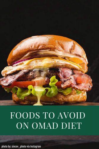 Foods To Avoid On OMAD Diet #foodsavoid