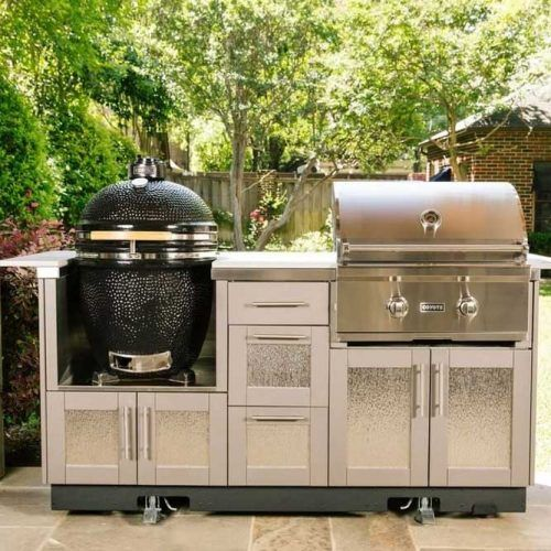 Small Grill And BBQ Space #smalloutdoorkitchen #bbq