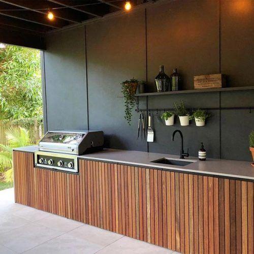 Simple Wooden Kitchen With A Sink #minimalistickitchen #sink