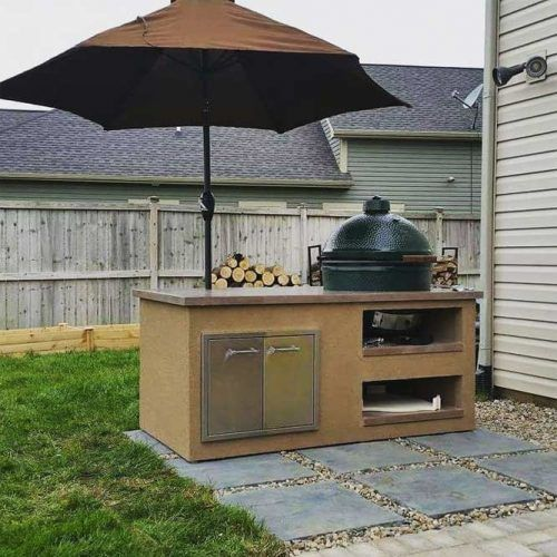 Small Kitchen Space With Grill #grillspace #smallkitchen