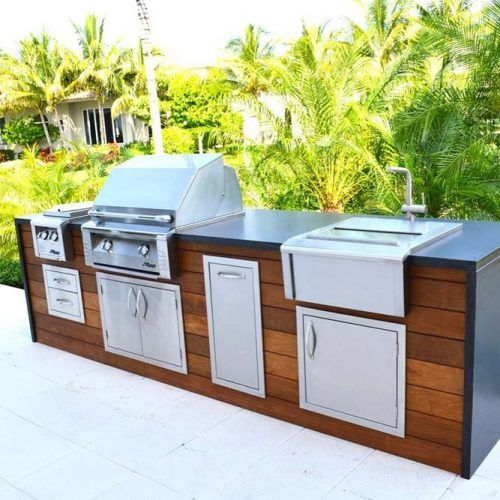 Outdoor Kitchen Design With All Grill Functional #grill #outdoorkitchendesign