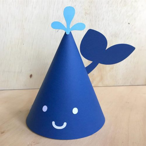 Fun Whale Party Hat Design #kidspartyhat #minipartyhat