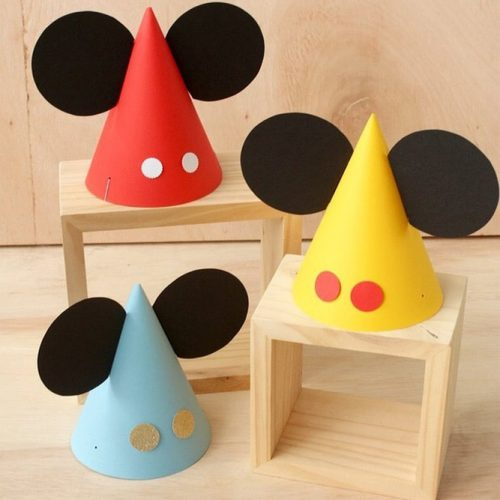 Mickey Mouse Party Hats #mickeymouse #minipartyhats