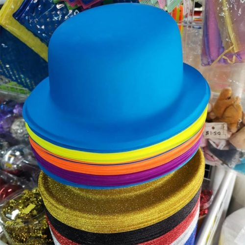 Colorful And Festive Party Hats #bluepartyhat #goldpartyhat
