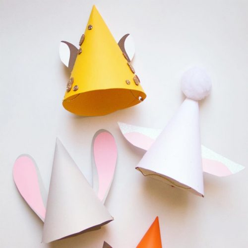 Cute Animals Party Hats #animalpartyhats #minipartyhats