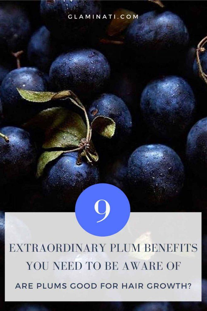 Are Plums Good For Hair Growth? #hairgrowth