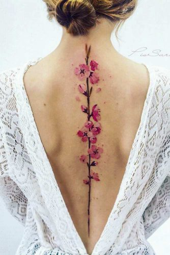 Think about your tattoo shape #backtattoo #flowertattoo