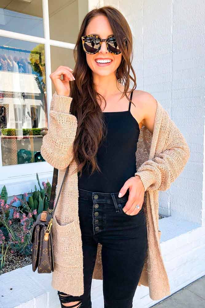Cozy Look With Cardigan #ctylishlook #casualstyle