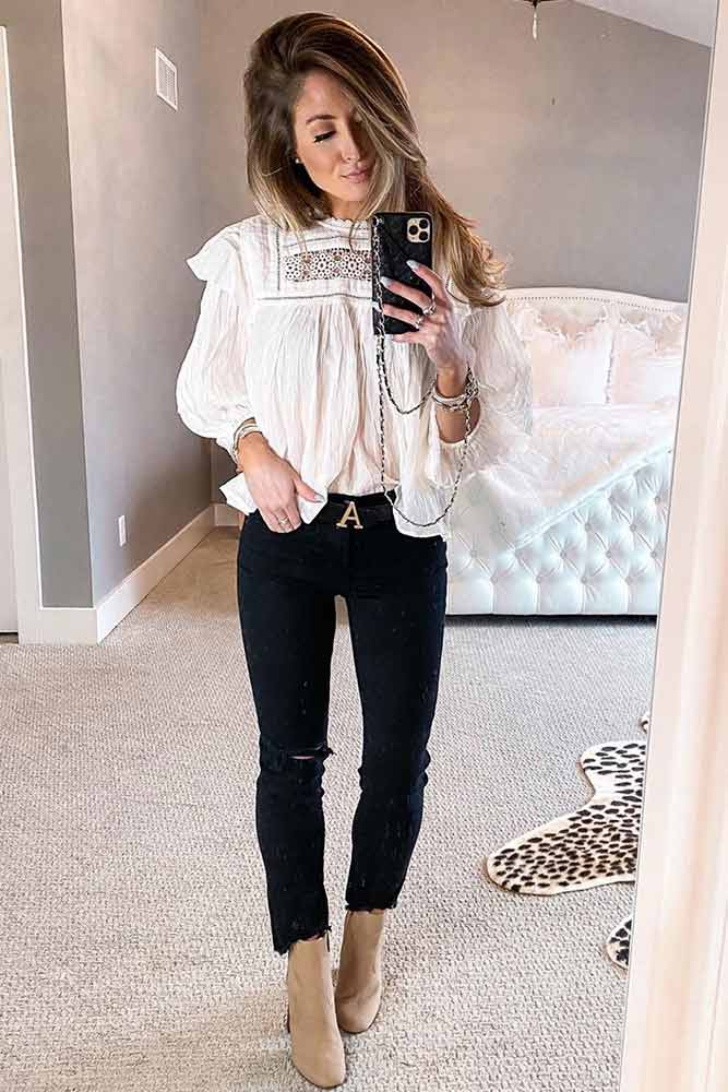 What Can I Wear With Black Jeans? #workoutfit #worklook