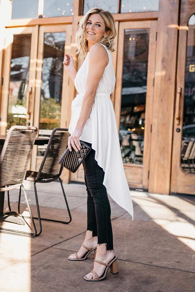 Summer Look With White Tunic #summeroutfit #summerlook