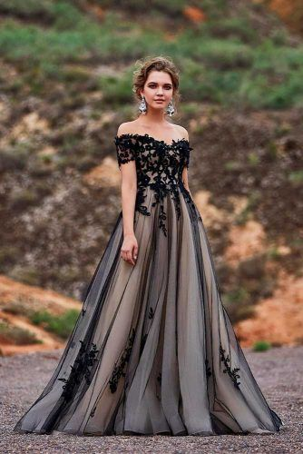 Wedding Gown Black And Champagne Combo #champagegown #blackweddinggown