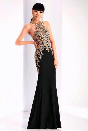 Black And Gold Wedding Dress #laceweddingdress #fittedweddingdress