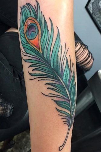 Peacock Feather Tattoo #peacockfeather