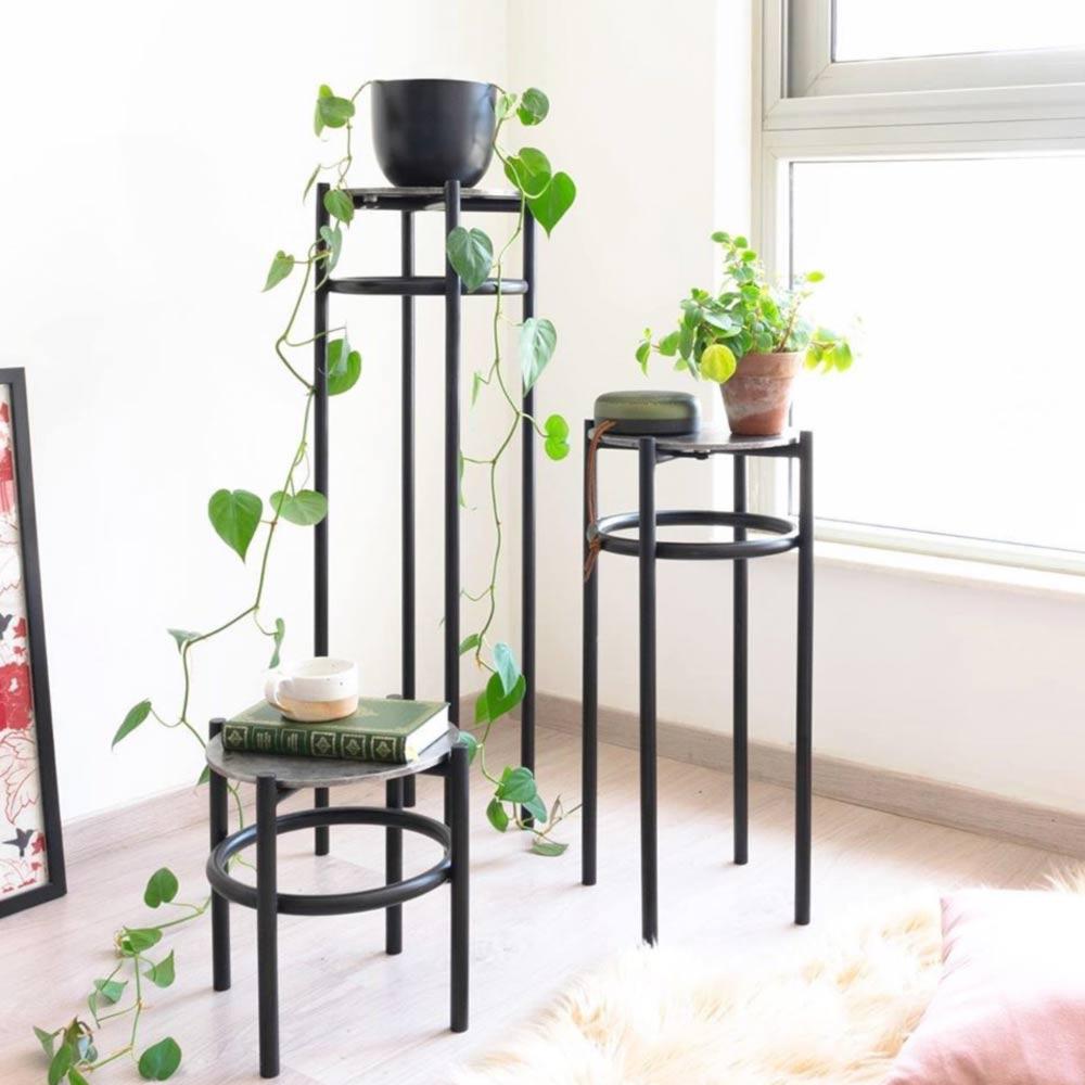 Black Modern Plant Stand #blackstand