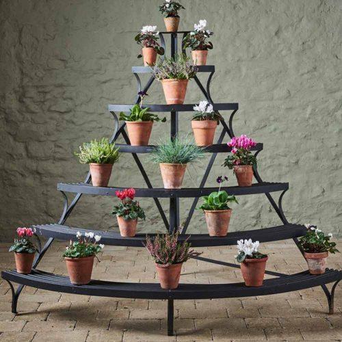 Black 6-tiers Plant Stand #bigplantstand