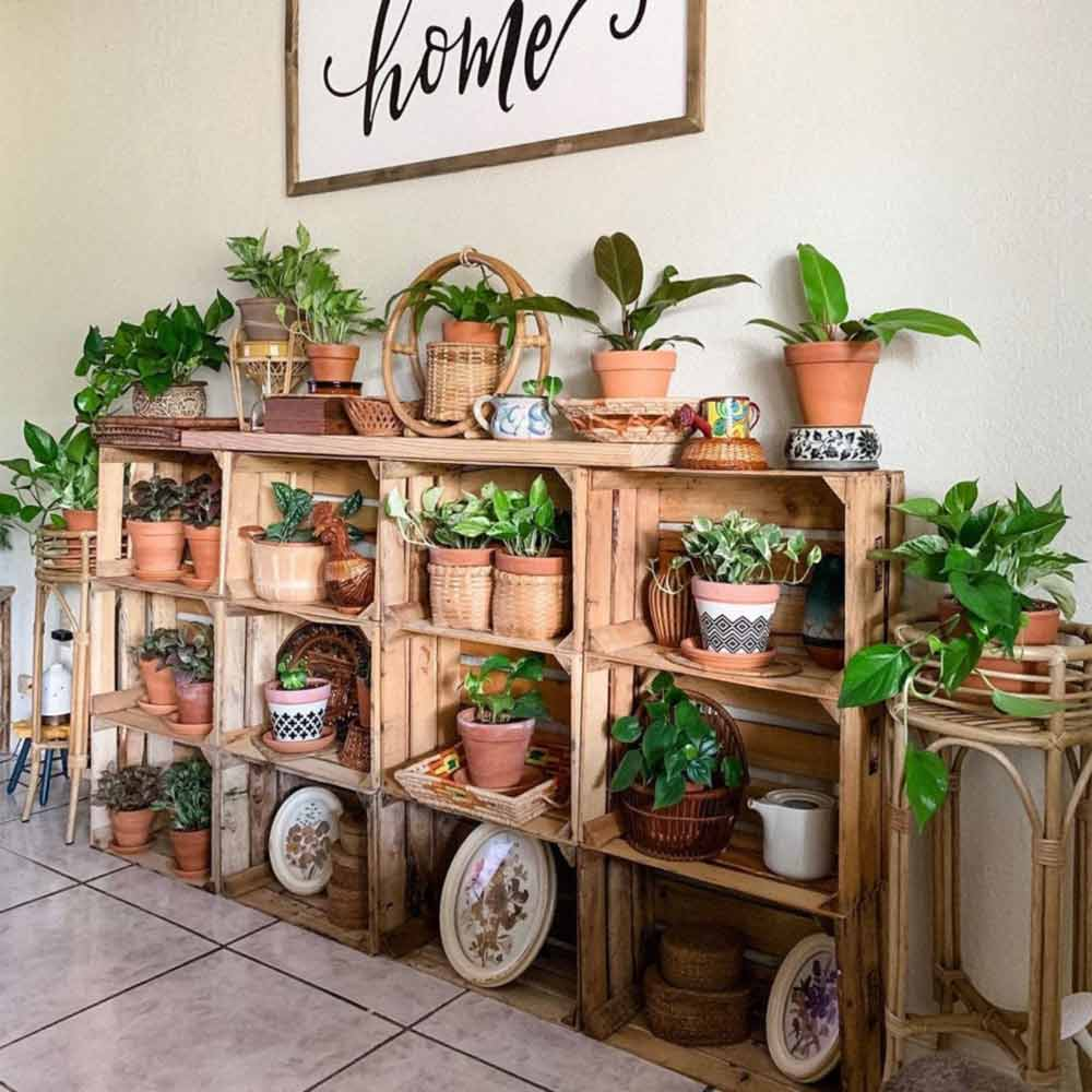 Wooden Boxes Plant Stand #woodenstand