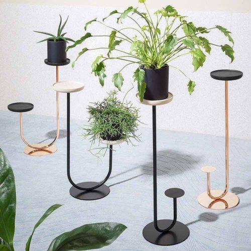 Modern Double Metallic Plant Stand #modernplantstand