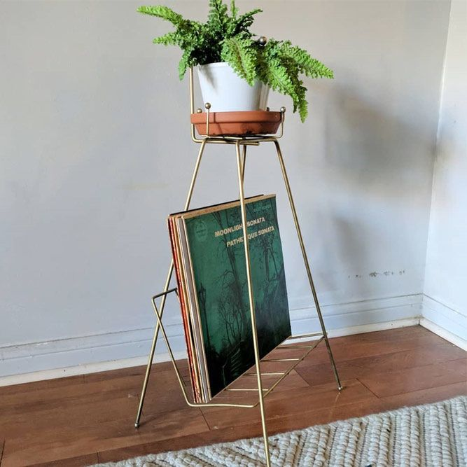 Metal Vintage Plant Stand With Shelve #vintageplantstand