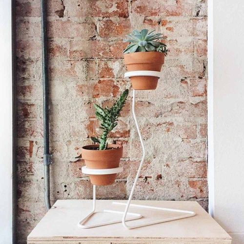 Minimalistic White Plant Stand #minimaliststand