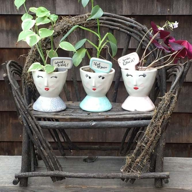 Rustic Craft Plant Stand #handmadeplantstand