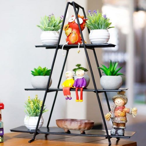 Triangular Metal Plant Stand #metalplantstand #shelves