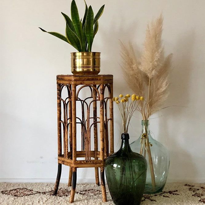 Vintage Plant Stand Design #vase #bohodecor