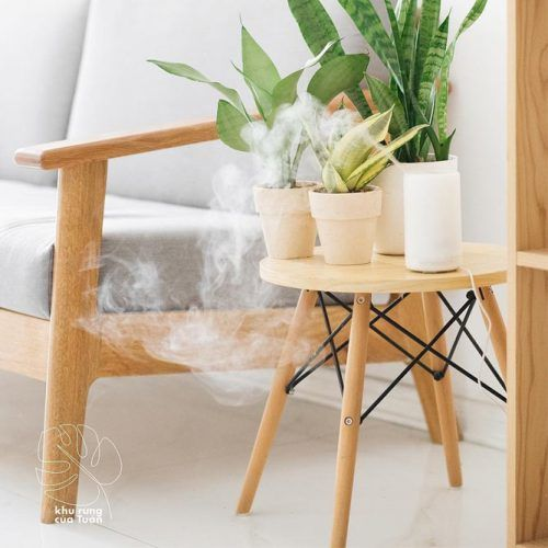 Small Wood Plant Table #smallwoodtable