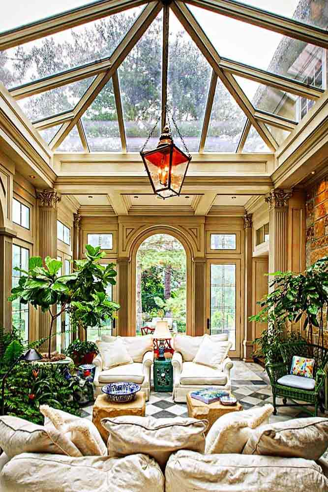 Conservatory Sunroom With Living Space #conservatorysunroom #livingspace