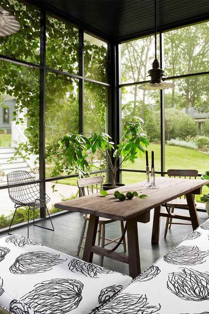 Functional Sunroom With Rest Space #restspace #dinnerspace