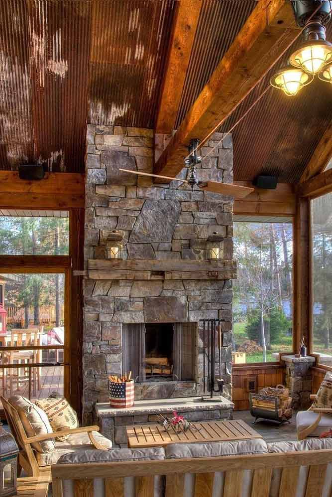 Classy And Rustic Sunroom Design #natural #rusticsunroom