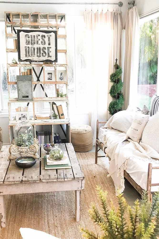 Vintage Rustic Traditional Sunroom #vintagestyle #rusticfurniture