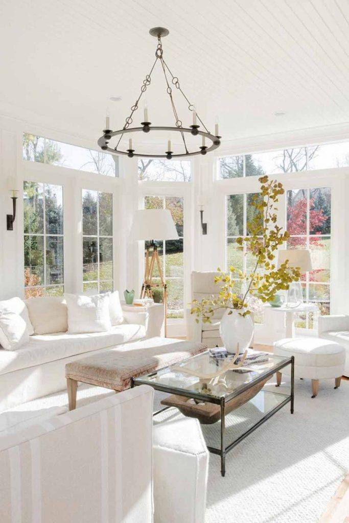 What Is The Best Color For A Sunroom? #whitecolor #sofa