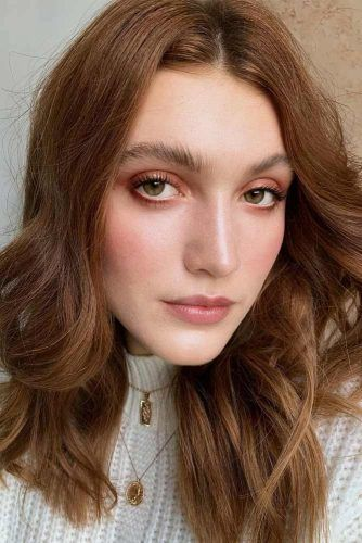 Neutral Makeup With Nude Soft Eyes #nudeeyes #naturallips
