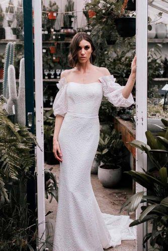 Bishop Sleeves Wedding Dress #bishopsleeves #weddingdress