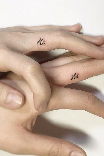 Couple Names Tattoos Ideas #fingertattoo #tinytattoo