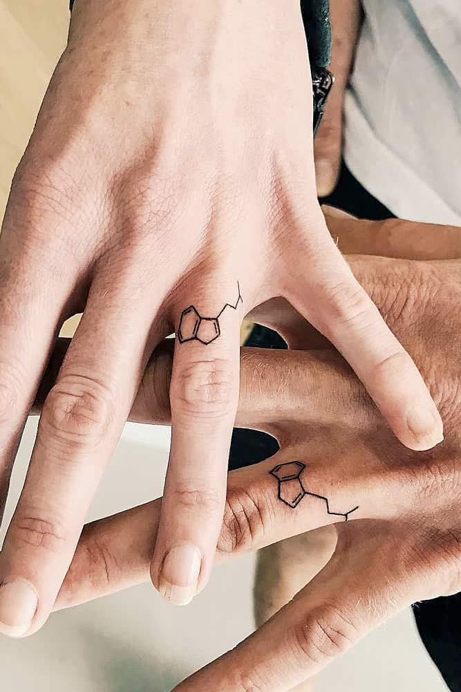 Chemical Elements Tattoo For Couple #fingertattoo