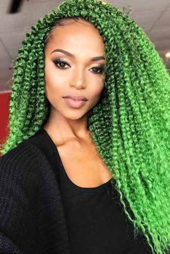 Side-Swept Style For Long Hair #braids #curlyhair