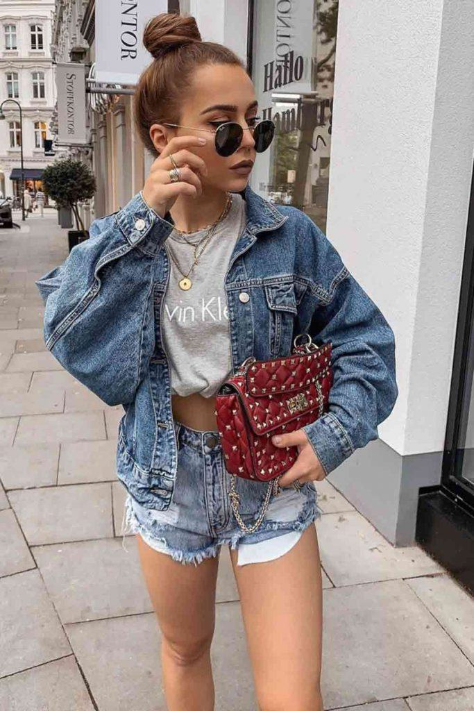 Oversized Jacket With Shorts Outfit #shorts #oversizedjacket