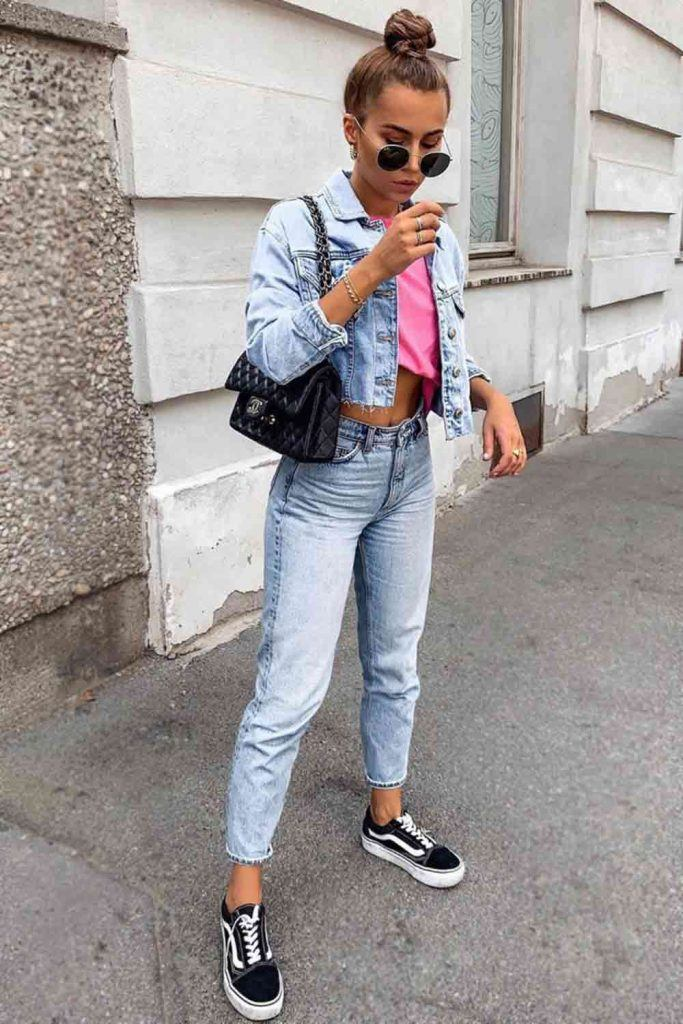 Crop Jacket With Jeans Outfit #jeans