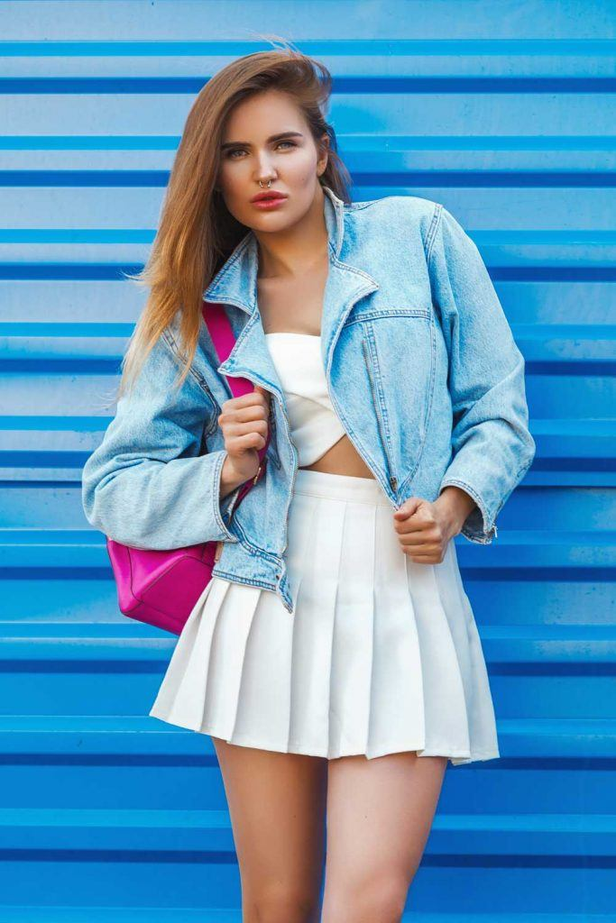 Denim Jacket and Tennis Skirt
