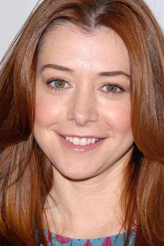 Alyson Hannigan With Heart Face Shape #alysonhannigan #celebrity #heartface