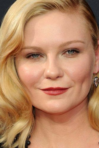 Kirsten Dunst With Round Face Shape #roundface