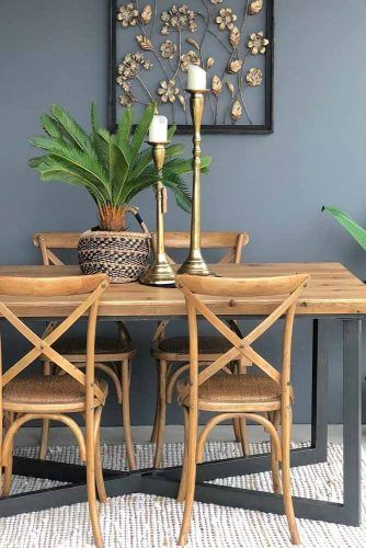 Industrial Modern Farmhouse Dinner Table #modernfarmhousetable
