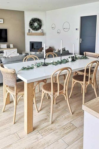 Wooden Table With Marble Top #wickerchairs #marbletop