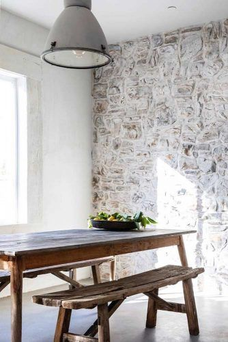 Simple Rustic Wooden Table With Bench #bench #table