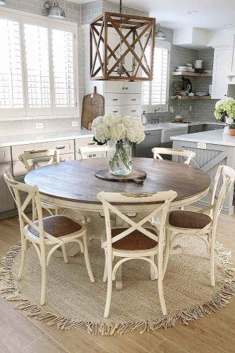 Vintage Round Wood Table And Chairs #vintagetable