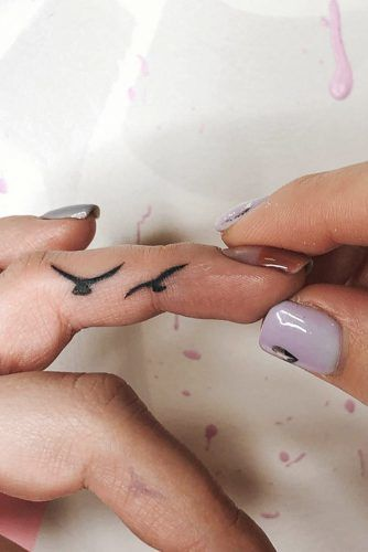 Small Hided Finder Tattoo With Birds #birdstattoo