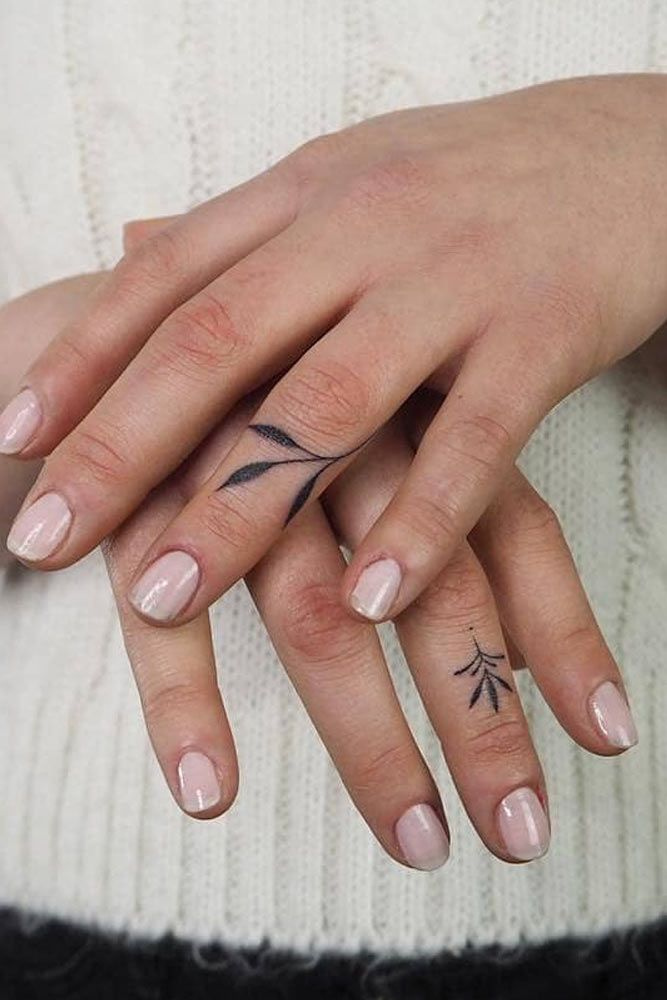 Nature Themed Finger Tattoos
