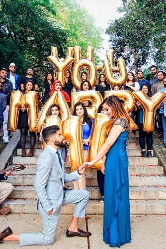 Marriage Proposal Ideas With Surprise Parties #romanticproposal #marriageproposalideas #love